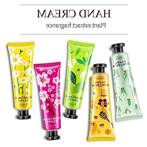 5Pcs/Set Plants Hand Set Aloe Moisturizing Hand Chapping Care Hand Cream