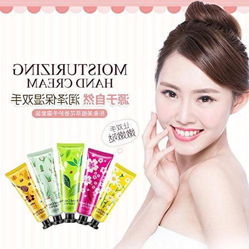 5Pcs/Set Set Aloe Hand Cream Nourishing Chapping Care