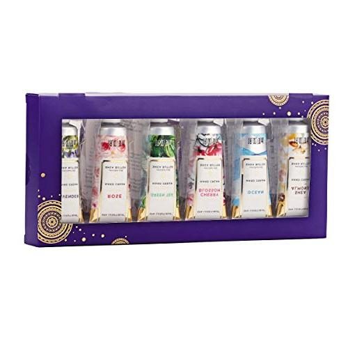Spa Luxetique Shea Hand Set, 6 Travel Nourishing Natural Aloe E, & Hydrating for Hands. Ideal Gift for Her