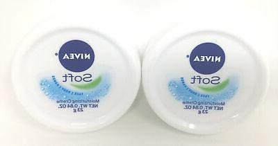 NIVEA Soft body face hand moisturizing Cream 0.84 oz pack of