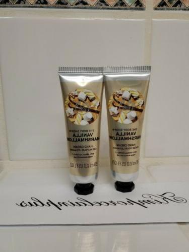 The Body Shop VANILLA MARSHMALLOW Hand Cream 1.0 Fl Oz NEW T
