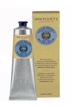 L'Occitane 20% Shea Butter Dry Skin HAND CREAM New In Box 2.