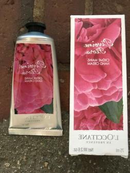 L'occitane Pivoine Flora Peony Shea Enriched Hand Cream 2.6o