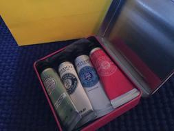 Loccitane Hand Cream Set Of 4 10 ML/.35 Oz In Tin Box