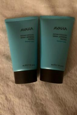 Ahava Lot Of 2 Deadsea Water Mineral Hand Cream Travel SZ 1.