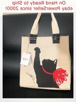 Milu Print Black Cat Tote Handbag Jason Wu for Target Cream