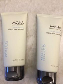 Ahava Mineral Hand Cream and Body Lotion 100ml 3.4 oz each
