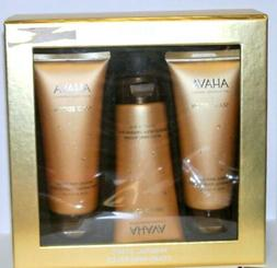 Ahava Mineral Stars 3 pc Gift Set Gold Deadsea Foot Hand Cre
