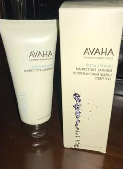 New AHAVA Dead Sea Water Mineral Foot Cream 100 ml 3.4 fl. o