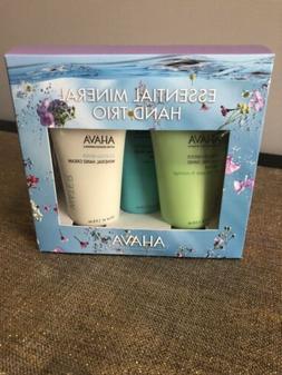 NEW In Box - AHAVA DeadSea Mineral Hand Cream 3-Piece Gift S