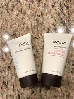 New AHAVA Mineral Hand Cream & Body Lotion Deadsea Water 1.3