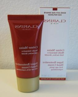 NIB Sealed Clarins Super Restorative Hand Cream Travel 30ml/