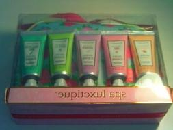 Spa Luxetique nourishing hand cream gift set with cosmetic b