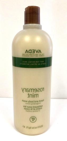 Aveda Rosemary Mint Hand And Body Wash 33.8oz +Free Aveda Ha