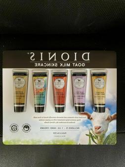 NIB DIONIS Goat Milk Hand Cream, 1.0 oz, 5-pack