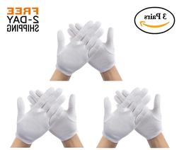 sensitive skin gloves moisturizing cotton protect dry