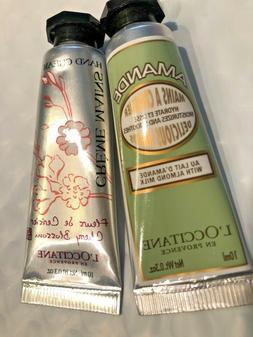 Set Of 2 L'Occitane Amande Almond Hand Cream And Cherry Blos