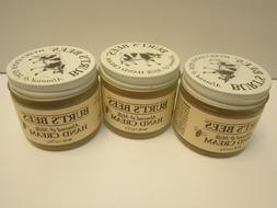 Set of 3 Burt's Bees Almond and Milk Beeswax Hand Cream 2 oz