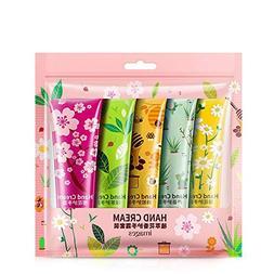 5Pcs/Set Plants Hand Cream Set Aloe Cherry Moisturizing Hand