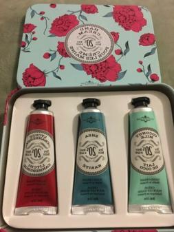 La Chatelaine Shea Butter Hand Cream Tin Set Coconut Milk, L