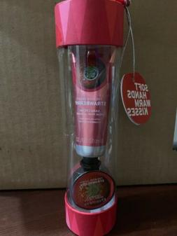 The Body Shop STRAWBERRY Soft Hands Cream + Warm Kisses Lip