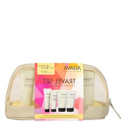 Ahava Travel Set WATER Hand Cream, Lotion, Shower Gel, MUD F