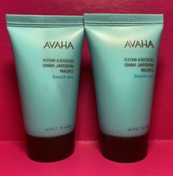 TWO AHAVA Deadsea Water Mineral Hand Cream  Travel Size 1.3