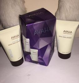 AHAVA DEAD SEA WATER MINERAL BODY LOTION & HAND CREAM GIFT